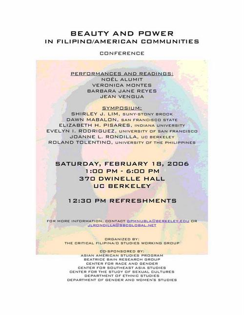 Beauty and Power in Filipino/American Communities Conference