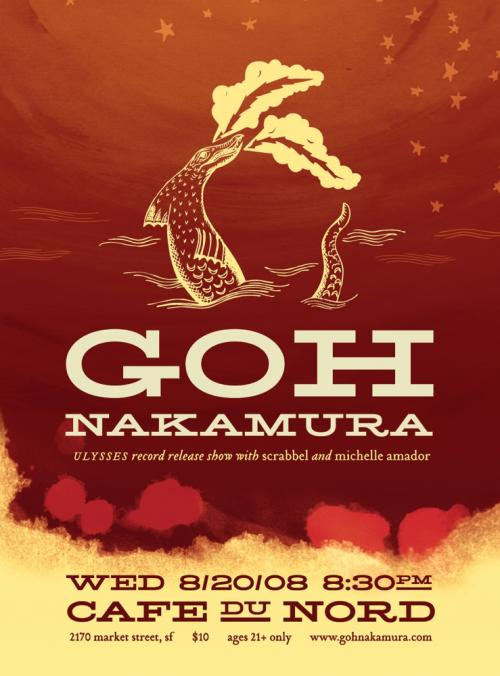 Goh Nakamura CD Release Show w/Scrabbel and Michelle Amador